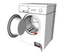 Høyre låsfjær til støvsuger 1180243014 | Electrolux